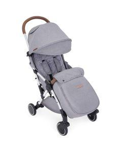 ickle bubba Globe Max Stroller Grey on Silver