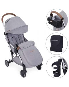 ickle bubba Globe Prime Stroller Grey on Silver