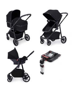 ickle bubba Moon 3 in 1 Galaxy Travel System with ISOFIX Base - Black