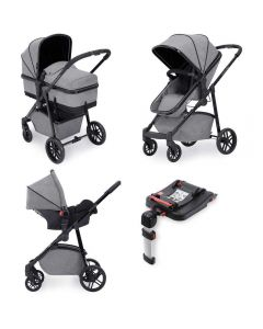 ickle bubba Moon 3 in 1 Galaxy Travel System with ISOFIX Base - Space Grey