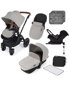ickle bubba Stomp V3 AIO ISOFIX Galaxy Travel System Silver/Black