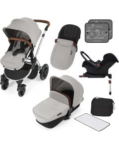 ickle bubba Stomp V3 AIO ISOFIX Galaxy Travel System Silver/Silver