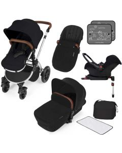 ickle bubba Stomp V3 AIO ISOFIX Galaxy Travel System Black/Silver