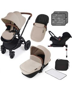 ickle bubba Stomp V3 AIO ISOFIX Galaxy Travel System Sand/Black