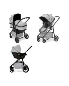 ickle bubba Moon 3 in 1 Astral Travel System Silver Grey