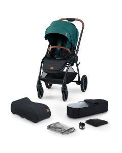 Kinderkraft Evolution Cocoon 2 in 1 Stroller - Midnight Green