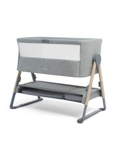 Mamas & Papas Lua Bedside Crib - Grey