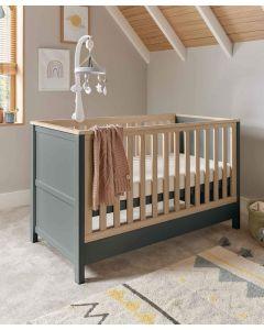 Mamas & Papas Harwell Cot Bed - Grey/Oak