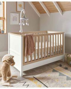 Mamas & Papas Harwell Cot Bed - White/Oak