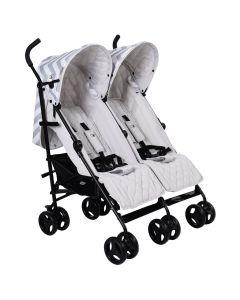 My Babiie MB11 Twin Stroller - Billie Faiers Grey Chevron