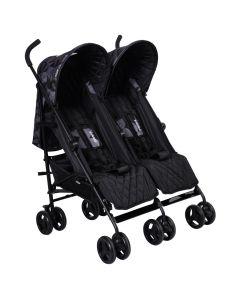 My Babiie MB11 Twin Stroller - Dani Dyer Black Geometric