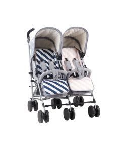 My Babiie MB22 Twin Stroller - Samantha Faiers Grey Melange