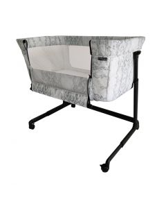 My Babiie Bedside Crib - Grey Marble