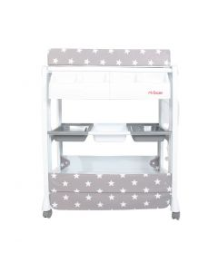 My Babiie Baby Bath and Changing Unit - Grey Stars