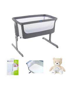 Chicco Next2Me Air Crib Bundle Dark Grey