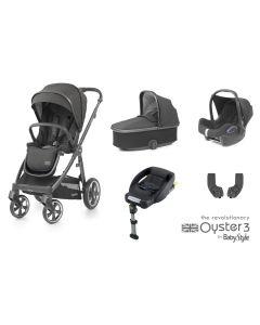 BabyStyle Oyster 3 Essential 5 Piece Cabriofix Bundle - Pepper