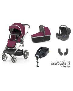 BabyStyle Oyster 3 Essential 5 Piece Cabriofix Bundle - Cherry