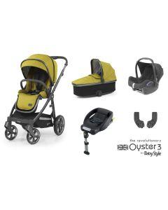 BabyStyle Oyster 3 Essential 5 Piece Cabriofix Bundle - City Grey/Mustard