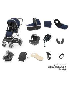BabyStyle Oyster 3 Ultimate 12 Piece Cabriofix Bundle - Mirror/Rich Navy