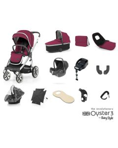 BabyStyle Oyster 3 Ultimate 12 Piece Cabriofix Bundle - Cherry