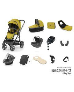 BabyStyle Oyster 3 Ultimate 12 Piece Cabriofix Bundle - City Grey/Mustard