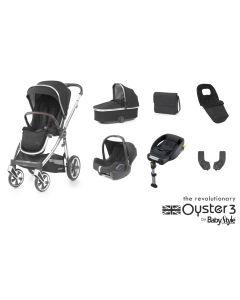 BabyStyle Oyster 3 Luxury 7 Piece Cabriofix Bundle - Mirror/Caviar