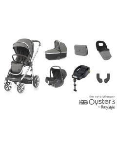 BabyStyle Oyster 3 Luxury 7 Piece Cabriofix Bundle - Mirror/Mercury