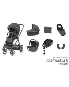BabyStyle Oyster 3 Luxury 7 Piece Cabriofix Bundle - Pepper