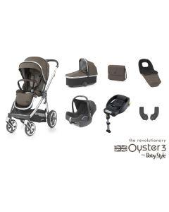 BabyStyle Oyster 3 Luxury 7 Piece Cabriofix Bundle - Truffle