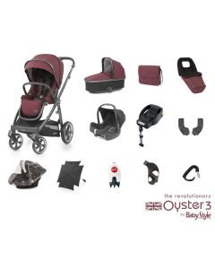 BabyStyle Oyster 3 Ultimate 12 Piece Cabriofix Bundle - Berry