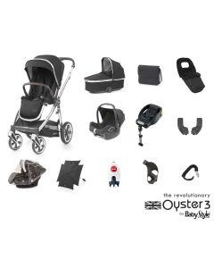 BabyStyle Oyster 3 Ultimate 12 Piece Cabriofix Bundle - Mirror/Caviar