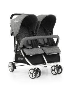 Babystyle Oyster Twin Stroller - Mercury