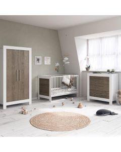 Little Acorns Portland 3 Piece Room Set - White/Grey Oak