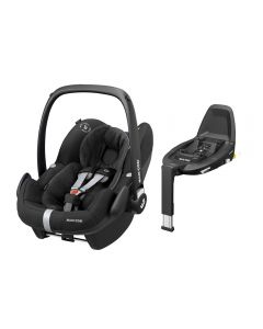 Maxi Cosi Pebble Pro i-Size Car Seat & FamilyFix3 Base - Essential Black