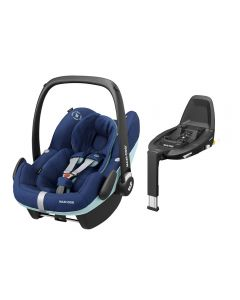 Maxi Cosi Pebble Pro i-Size Car Seat & FamilyFix3 Base - Essential Blue