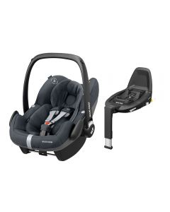 Maxi Cosi Pebble Pro i-Size Car Seat & FamilyFix3 Base - Essential Graphite