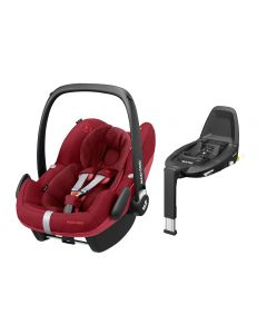 Maxi Cosi Pebble Pro i-Size Car Seat & FamilyFix3 Base - Essential Red
