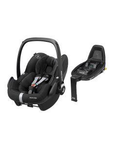 Maxi Cosi Pebble Pro i-Size Car Seat & FamilyFix2 Base - Essential Black