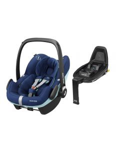 Maxi Cosi Pebble Pro i-Size Car Seat & FamilyFix2 Base - Essential Blue