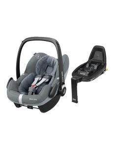 Maxi Cosi Pebble Pro i-Size Car Seat & FamilyFix2 Base - Essential Grey