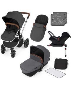 ickle bubba Stomp V3 AIO ISOFIX Galaxy Travel System Graphite Grey/Silver