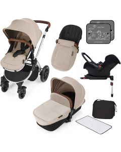 ickle bubba Stomp V3 AIO ISOFIX Galaxy Travel System Sand/Silver