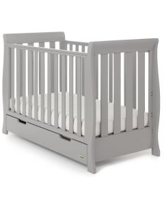 Obaby Stamford Mini Sleigh Cot Bed - Warm Grey