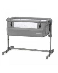 Kinderkraft Neste Up Bedside Crib - Grey Melange