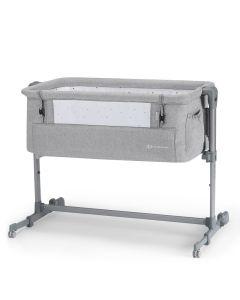 Kinderkraft Neste Up Bedside Crib - Grey Light Melange