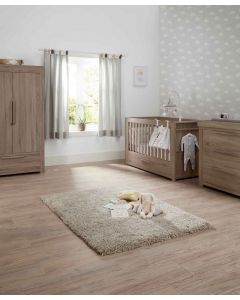 Mamas & Papas Franklin 3 Piece Cot Bed Range - Grey Wash