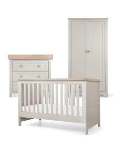 Mamas & Papas Keswick 3 Piece Cotbed Range  - Grey/Oak