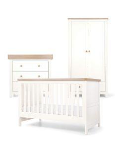 Mamas & Papas Keswick 3 Piece Cotbed Range  - White/Oak