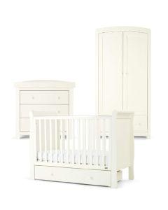 Mamas & Papas Mia Sleigh 3 Piece Cot Range - Pure White