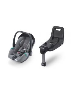 Recaro Avan I-SIZE Car Seat and Base Bundle Prime Silent Grey